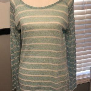 Xhilaration Brand Mint & Cream Thin Sweater